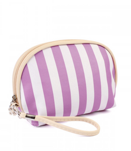 """Purple Stripe"" Crystal Travel Bag"