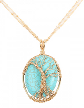 Load image into Gallery viewer, Turquoise Wire Pendant Necklace