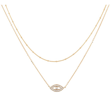 Evil Eye 18k Gold Plated Layer Necklace