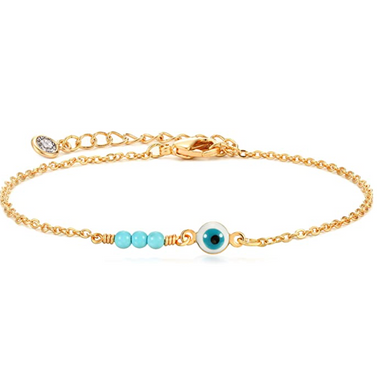14K Gold Plated Evil Eye Bracelet