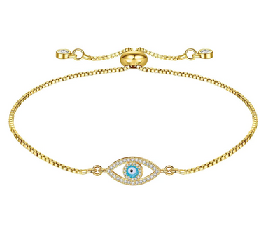 14K Gold Filled Evil Eye Bracelet
