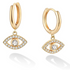 18K Gold Plated Evil Eye Earrings