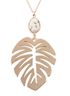Monstera Leaf w/ Howlite Pendant Necklace