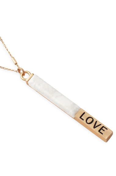 Love Pendant Howlite Necklace