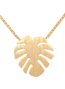 Leaf Cast Pendant Necklace