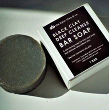 Load image into Gallery viewer, Black Clay Deep Cleanse Soap Bar