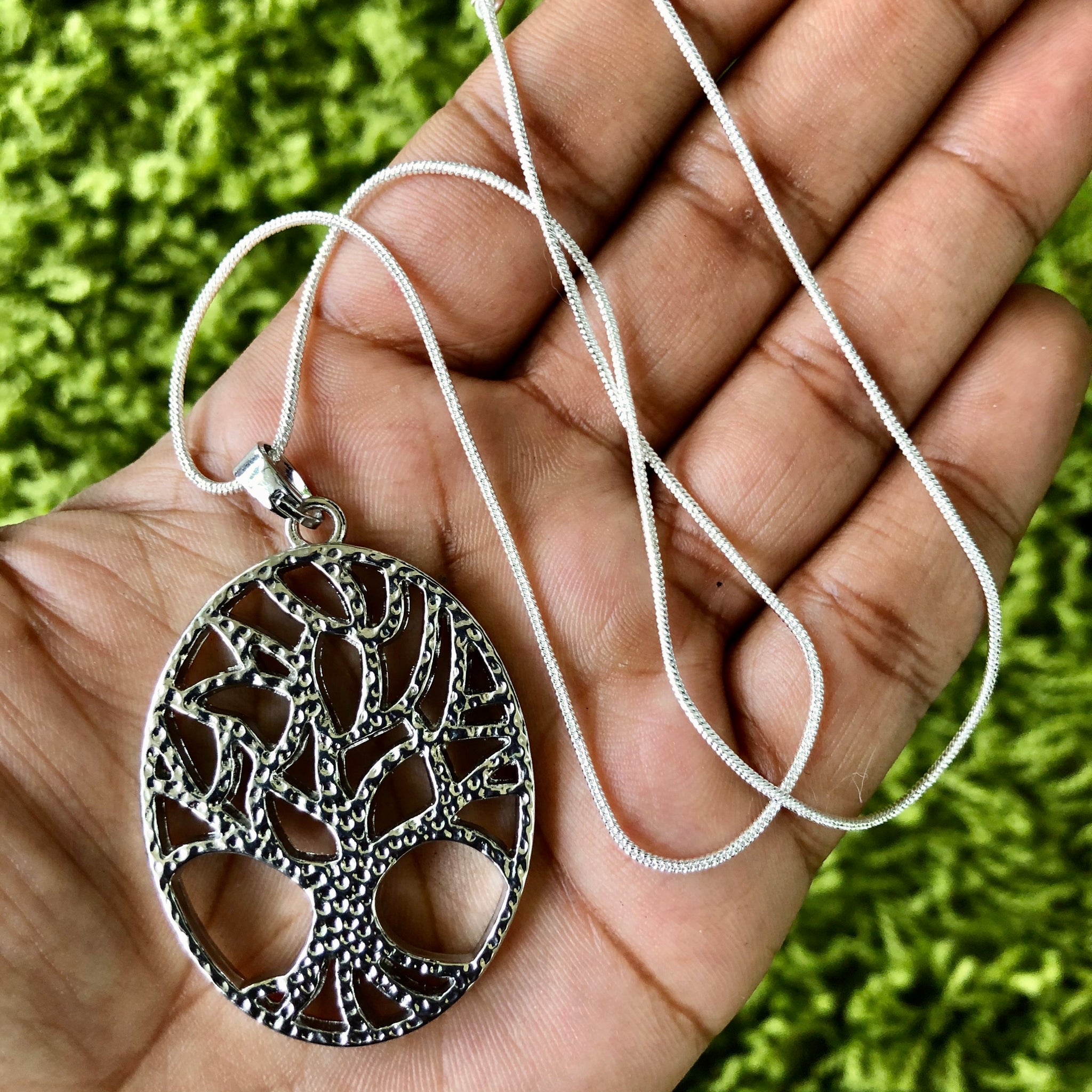 "Sterling Silver 18"" Tree Of Life Necklace"