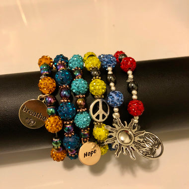Hematite Beaded Bracelet (1 of each)