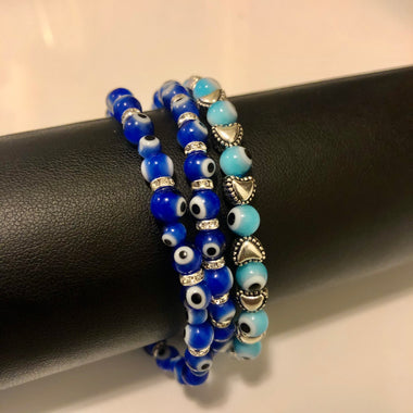 Evil Eye Bracelets (1 of each)