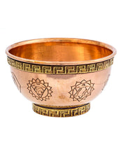 Load image into Gallery viewer, 7 Chakra's Copper Smudge Bowl