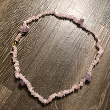Load image into Gallery viewer, Rose Quartz w/ Amethyst Single Strand Waist Bead