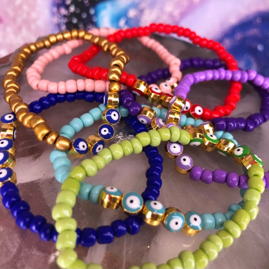 Evil Eye Colored Bracelet