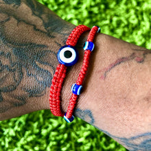 Load image into Gallery viewer, Evil Eye String Kabbalah Bracelet