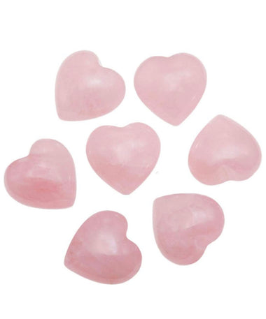 Rose Quartz Tumbled Heart Stone