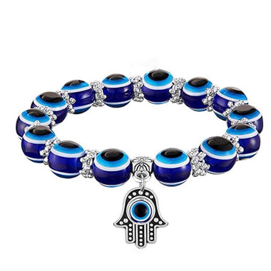 Evil Eye Hamsa Hand Beaded Bracelet