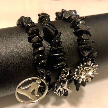 Black Quartz Bracelet (1 of each)