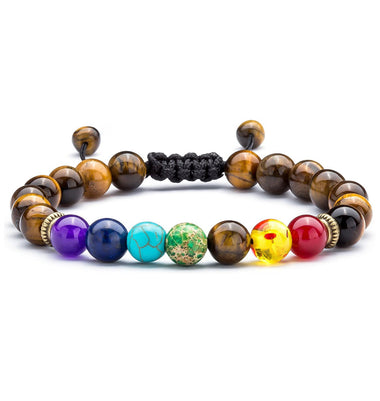 Chakra Tiger's Eye Beaded Bracelet