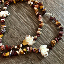 Load image into Gallery viewer, Mookaite Jasper Elephant Single Strand Waist Bead