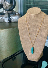 "Load image into Gallery viewer, 14kt Gold Plated 18"" Amazonite Necklace"