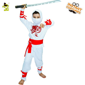 Boys White Ninja  Costume - Halloween USA