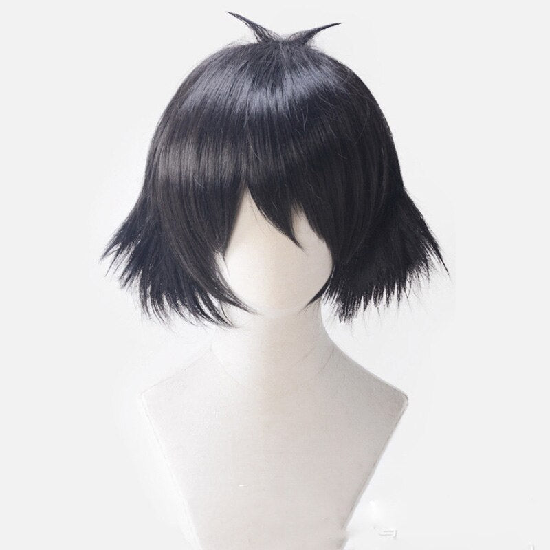 Anime Steins Gate Ruka Urushibara Shiina Mayuri Wig Black Short Curly - Halloween USA