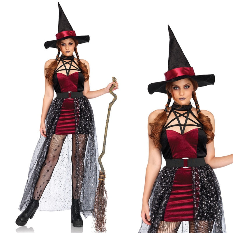 Red Sexy Witch Costume