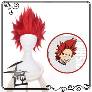 Anime My Hero Academia Kirishima Eijiro Short Red Wig - Halloween USA