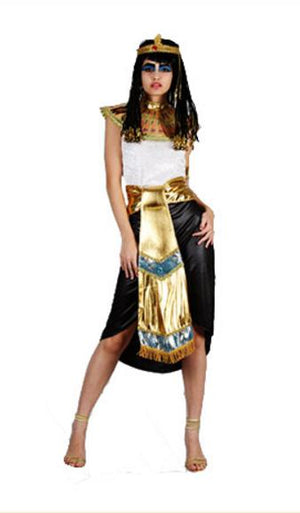 Egyptian Pharaoh Cleopatra Costumes For Halloween Purim Women Men Stage Couples Costumes - Halloween USA