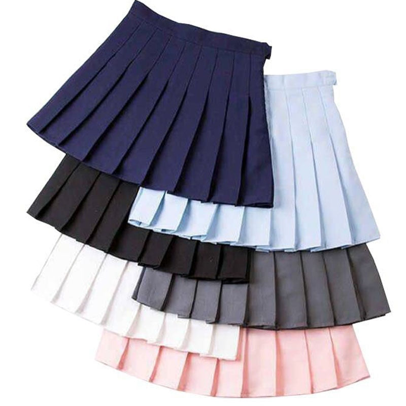 High Waist Cheerleader Badminton Skirts - Halloween USA
