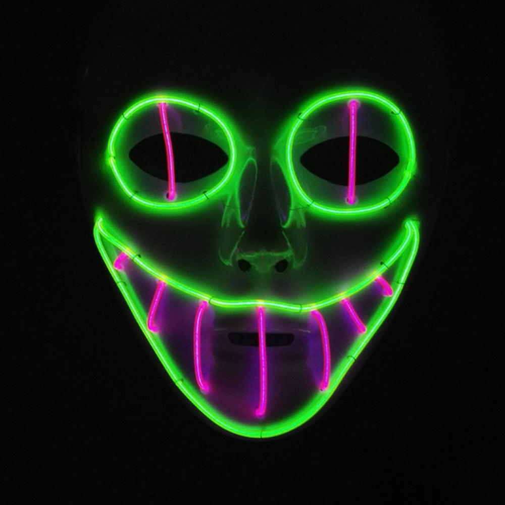 LED Wire Clown Mask - Halloween USA
