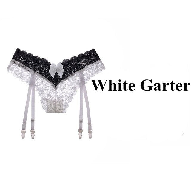Sexy Stockings and Garters Suspender Belt set - Halloween USA