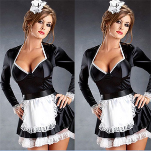 Late Night French Maid Costume - Halloween USA