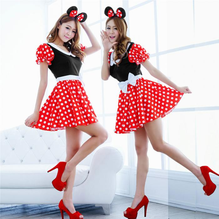 Mini Mouse Cosplay Costume with Ears - Halloween USA