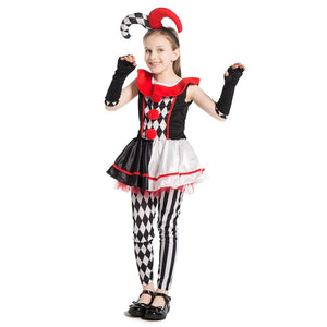 Girls Harlequin Jester  Costume - Halloween USA