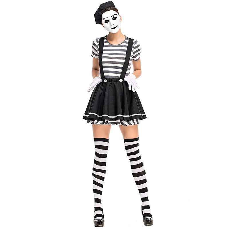 Women Mime Costume - Halloween USA