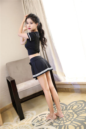 Cheerleader Costume with  Miniskirt - Halloween USA