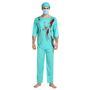 Scary Doctor Costume With False Blood - Halloween USA