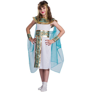 Kids Blue Cleopatra  Costume - Halloween USA