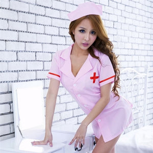 Hot Nurse Costume White/Pink - Halloween USA