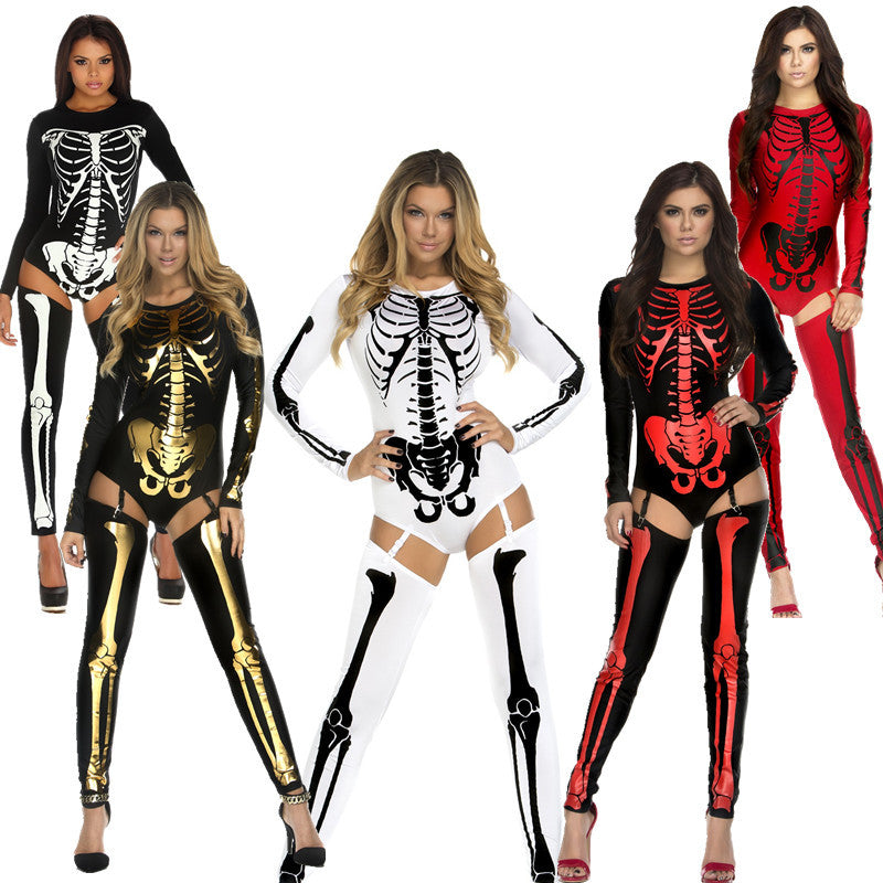 Skeleton Jumpsuit  Costume - Halloween USA