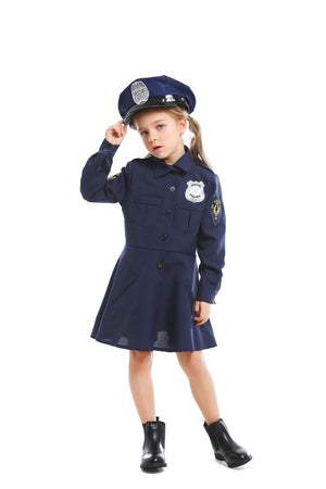 Cute Girls Police Costume - Halloween USA