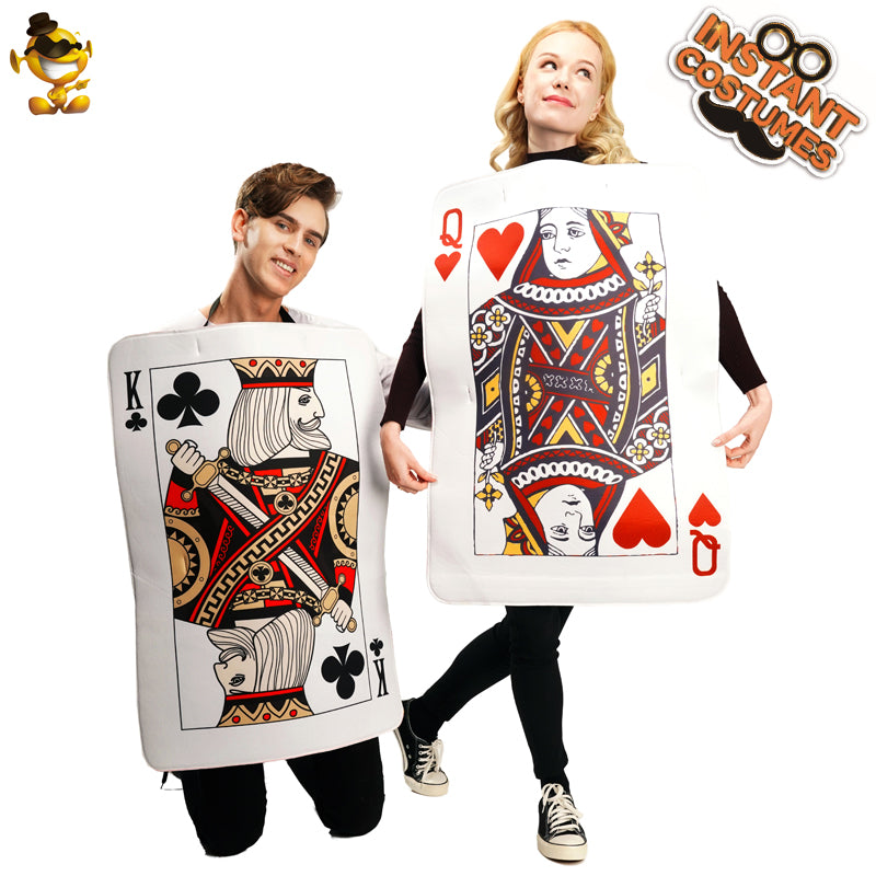 Couples Playing Cards costume