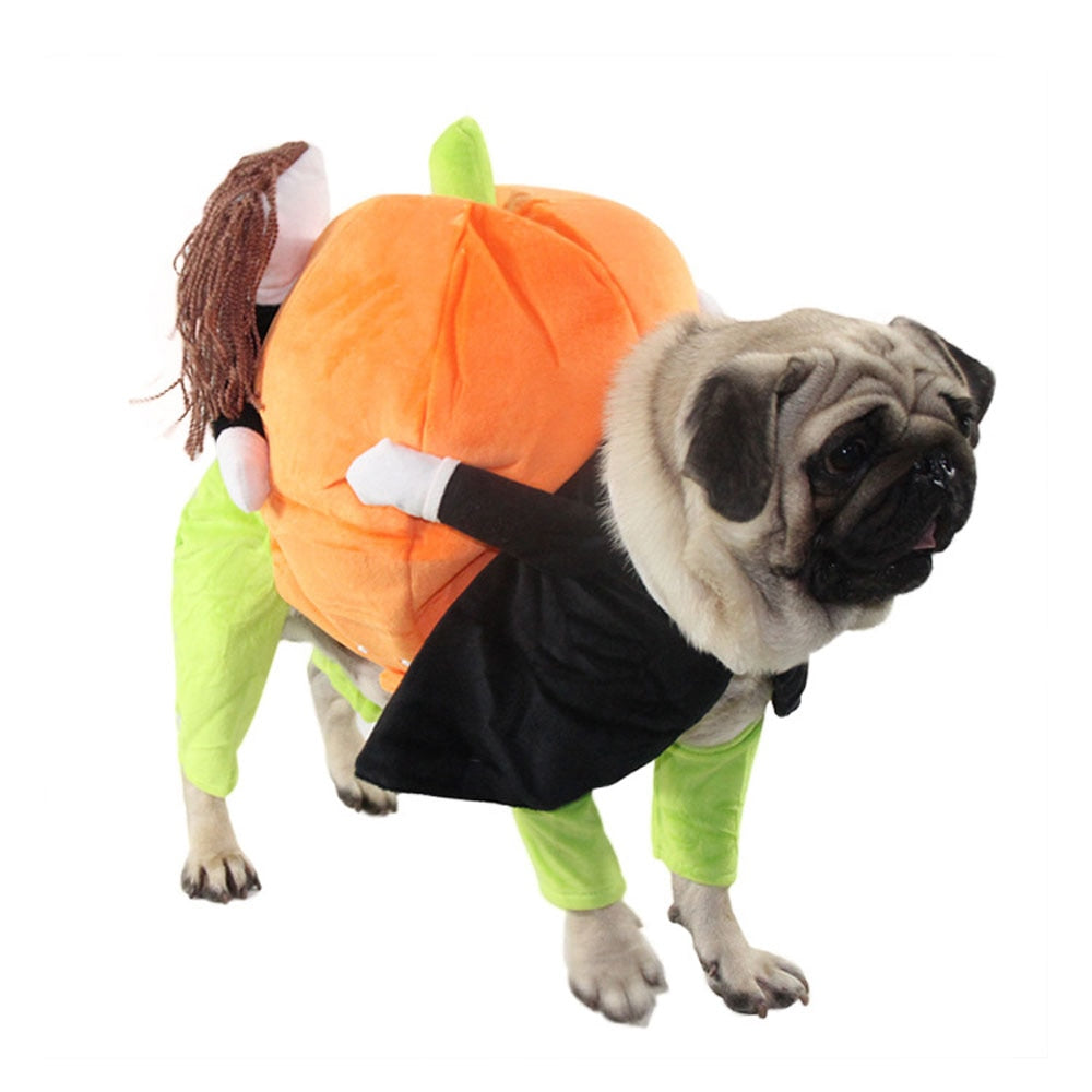 Dog Clothes Halloween Funny Pet Pumpkin Costume Pet Cosplay Special Events Apparel Outfit Dog Cute Costumes