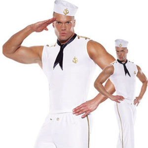 Men Sailor Uniform - Halloween USA