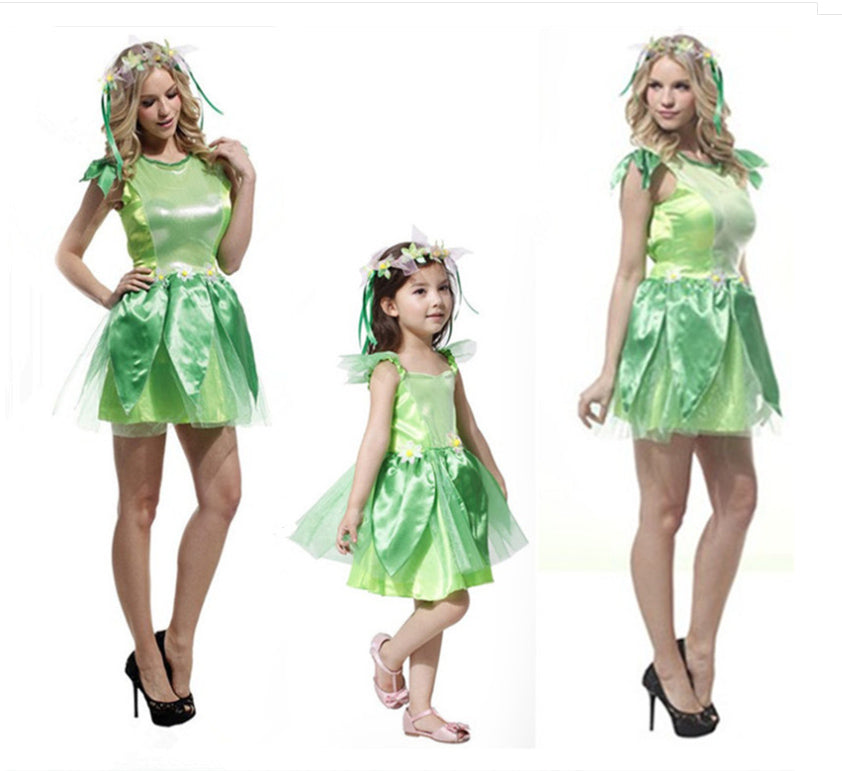 TinkerBell Green Dress Costume In  Woman and girl sizes - Halloween USA