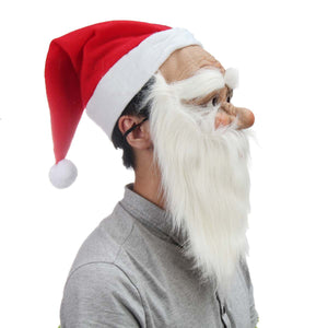 Santa Claus Full Mask with  Beard - Halloween USA