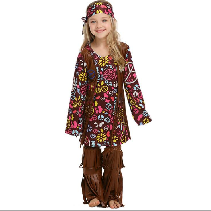 60s 70s Kid  Hippie Costume