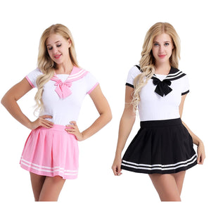 School Girls Sexy with Mini Pleated Skirt Costumes - Halloween USA