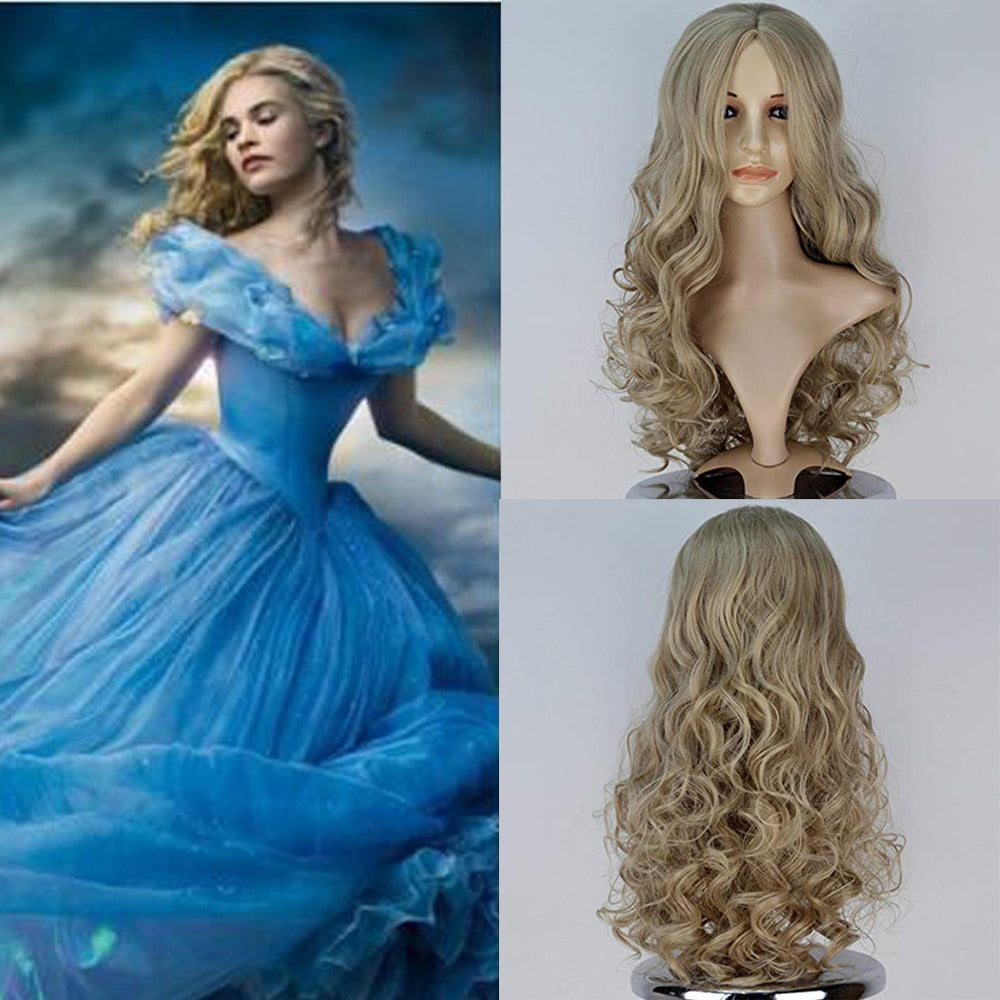 Cinderella  Blonde  Wig - Halloween USA