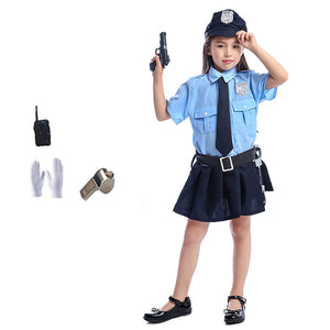 Cute Girls  Police Uniform - Halloween USA